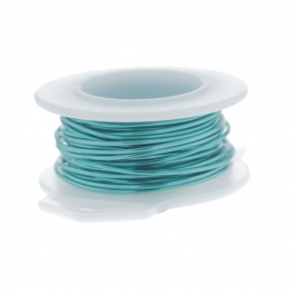 20 Gauge Round Silver Plated Pacific Blue Copper Craft Wire - 25 ft