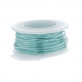 24 Gauge Round Silver Plated Sea Foam Copper Craft Wire - 60 ft