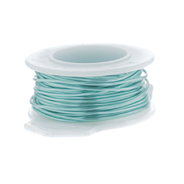 28 Gauge Round Silver Plated Sea Foam Copper Craft Wire - 120 ft