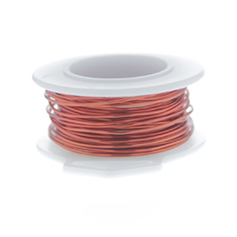 28 Gauge Round Silver Plated Orange Copper Craft Wire - 120 ft