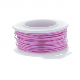 18 Gauge Round Silver Plated Hot Pink Copper Craft Wire - 20 ft