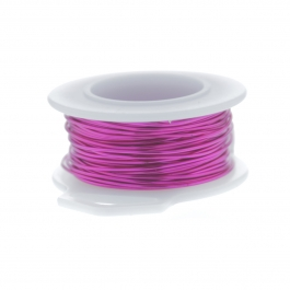 20 Gauge Round Silver Plated Fuchsia Copper Craft Wire - 25 ft