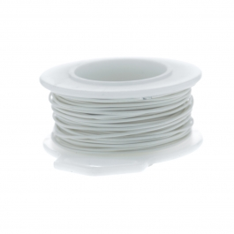 20 Gauge Round Silver Plated Antique White Copper Craft Wire - 25 ft