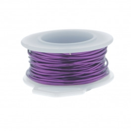 26 Gauge Round Silver Plated Amethyst Copper Craft Wire - 45 ft