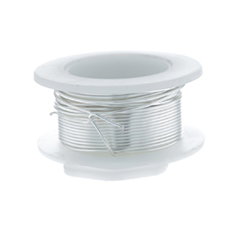 20 Gauge Round Silver Plated Silver Copper Craft Wire - 25 ft