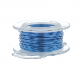 24 Gauge Round Silver Plated American Blue Copper Craft Wire - 30 ft