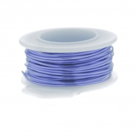 20 Gauge Round Silver Plated Lavender Copper Craft Wire - 25 ft