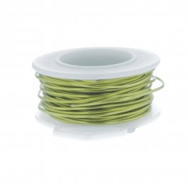 24 Gauge Round Silver Plated Peridot Copper Craft Wire - 60 ft
