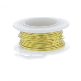 28 Gauge Round Silver Plated Yellow Copper Craft Wire - 45 ft
