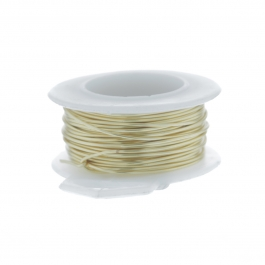 28 Gauge Round Silver Plated Gold Copper Craft Wire - 120 ft