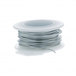 24 Gauge Round Silver Plated Titanium Copper Craft Wire - 30 ft