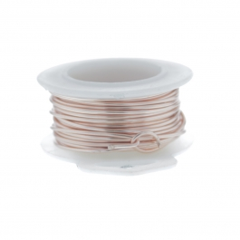 24 Gauge Round Silver Plated Rose Gold Copper Craft Wire - 60 ft