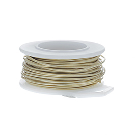 26 Gauge Round Yellow Brass Craft Wire - 90 ft