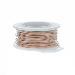 28 Gauge Round Copper Craft Wire - 120 ft