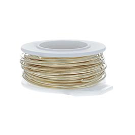 18 Gauge Round Gold Tone Brass Craft Wire - 21 ft