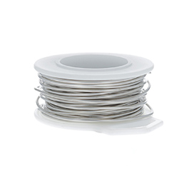 28 Gauge Round Nickel Silver Craft Wire - 120 ft