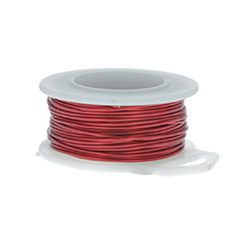 26 Gauge Round Red Enameled Craft Wire - 90 ft