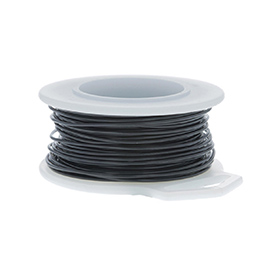 24 Gauge Round Black Enameled Craft Wire - 60 ft