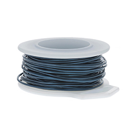 24 Gauge Round Blue Enameled Craft Wire - 60 ft