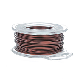 18 Gauge Round Brown Enameled Craft Wire - 21 ft