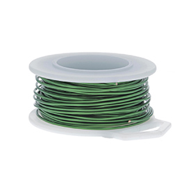 18 Gauge Round Green Enameled Craft Wire - 21 ft