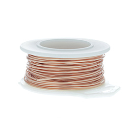 28 Gauge Round Natural Enameled Craft Wire - 120 ft