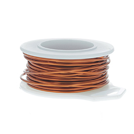 24 Gauge Round Amber Enameled Craft Wire - 60 ft