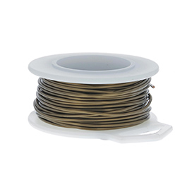 24 Gauge Round Vintage Bronze Enameled Craft Wire - 60 ft