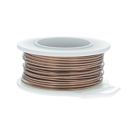 24 Gauge Round Antique Copper Enameled Craft Wire - 60 ft