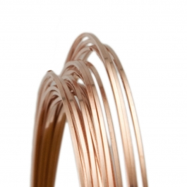 21 Gauge Square Half Hard 14/20 Rose Gold Filled Wire