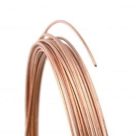 22 Gauge Round Dead Soft 14/20 Rose Gold Filled Wire