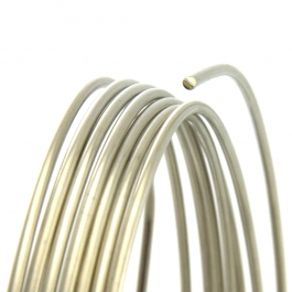 21 Gauge Round Half Hard Nickel Silver Wire