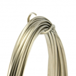 21 Gauge Half Round Half Hard Nickel Silver Wire