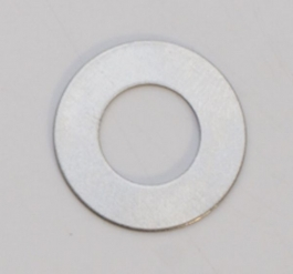 Nickel Silver Washer, 24 Gauge, 3/4 Inch, Pack of 6