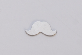 NICKEL SILVER - 24ga - SMALL MUSTACHE - Pack of 6