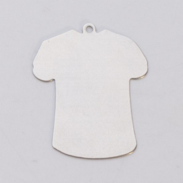 NICKEL SILVER - 24ga - SMALL T-SHIRT W/RING - Pack of 6
