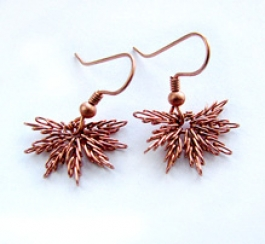 North Star Earrings Pattern by Albina Manning