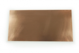 Copper Sheet Metal - 24 Gauge - 6 x 3 Inches