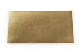 Red Brass Sheet Metal - 28 Gauge - 6 x 3 Inches